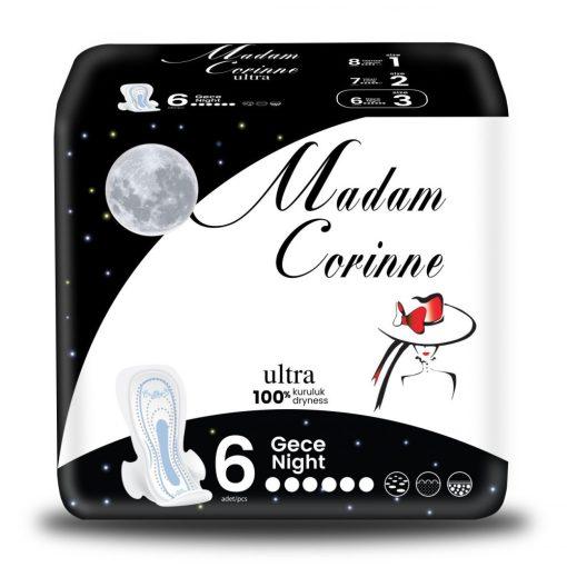 Madam Corinne Ultra NIGHT egészséügyibetét 6 db