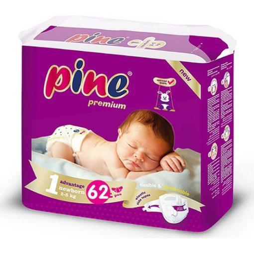 Pine Újszülött pelenka 1, 2-5 kg, 62 db
