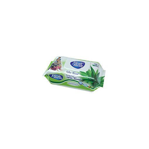 Fresh Mesh Aloe Vera  nedves törlőkendő fedeles 144 db