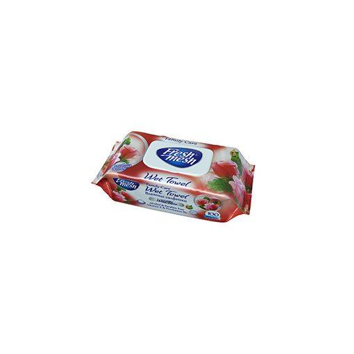 Fresh Mesh Baba nedves törlőkendő rózsa illatú 100 db