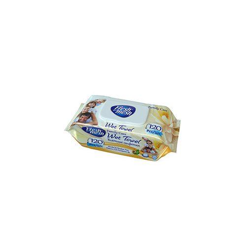 Fresh Mesh Family Care E-vitamin nedves törlőkendő fedeles 120 db