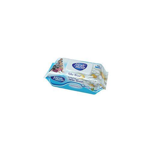 Fresh Mesh Family Care E-vitamin Kamilla illatú  nedves törlőkendő fedeles 144 db