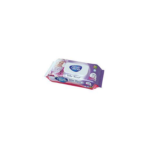 Fresh Mesh lila baba nedves törlőkendő 72 db