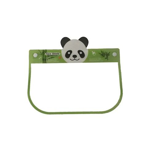 Gyerek plexi maszk  arcvédő pajzs  arcpajzs több mintával - Panda