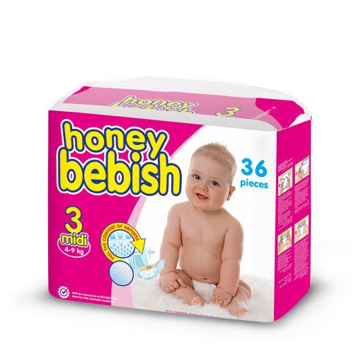 Honey Bebish Midi 3, (4-9 kg), 36 db