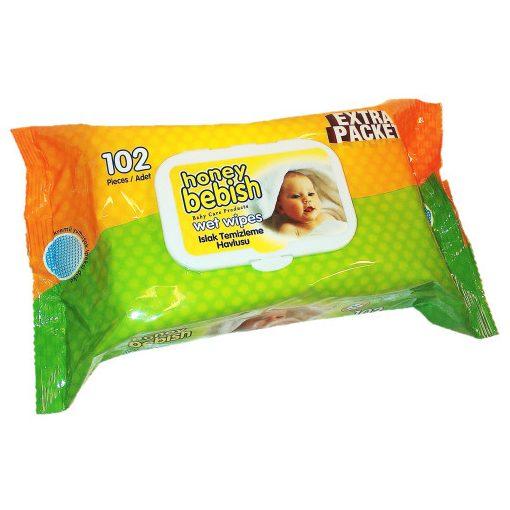 Honey Bebish baba nedves törlőkendő 102 db
