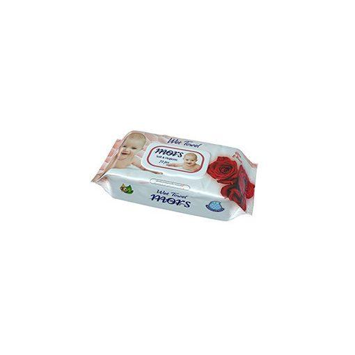 Mors Soft&Hygienic Baby rózsa illatú nedves törlőkendő fedeles 72 db