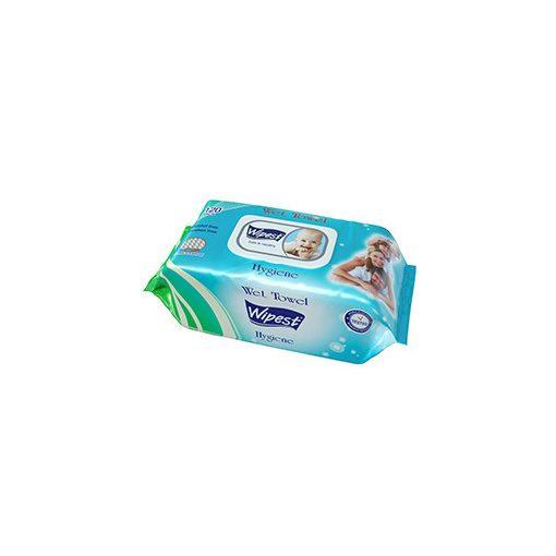 Wipest Hygiene parabénmentes nedves törlőkendő fedeles 120 db