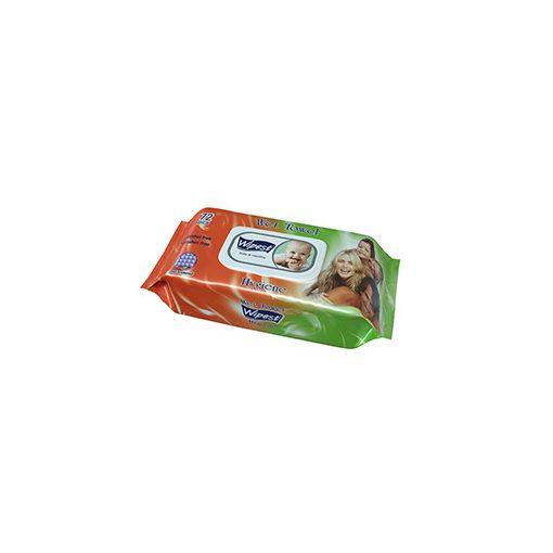 Wipest Hygiene parabénmentes nedves törlőkendő fedeles 72 db
