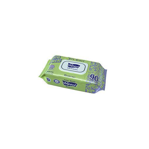 Wipest Hygiene parabénmentes nedves törlőkendő fedeles 90 db