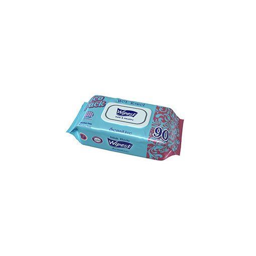 Wipest Sensitive nedves törlőkendő fedeles 90 db